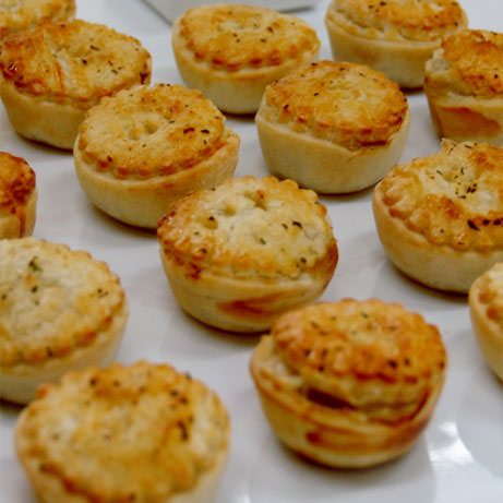 Mini Gourmet Chicken and Mushroom Pie by Devour It Catering Melbourne