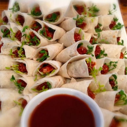 Peking Duck Crepes - Finger Food by Devour It Catering Melbourne