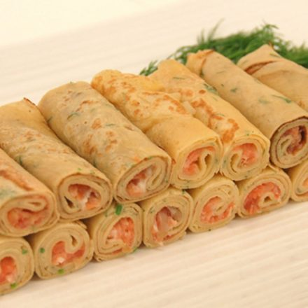Smoked Salmon Crepe Rolls by Devour It Catering Melbourne