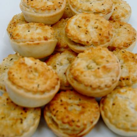 Mini Gourmet Scallop and Chervil Pie by Devour It Catering Melbourne