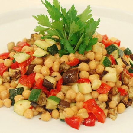 Roasted Vegetable and Chickpea Salad bu Devour It Catering Melbourne