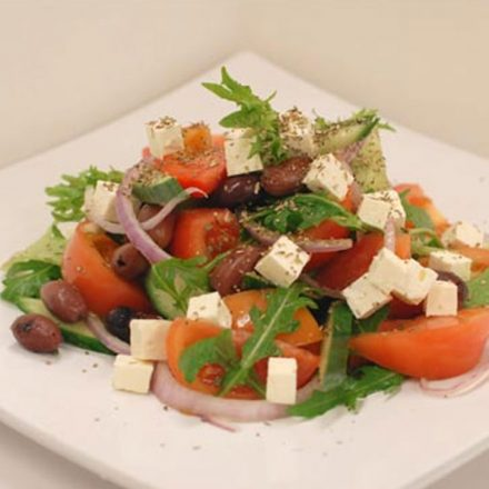 Greek salad by Devour It Catering Melbourne.