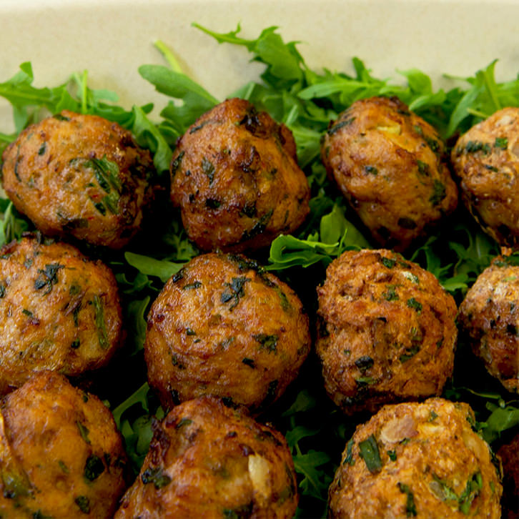 Beef balls finger food devour it catering for Canape catering melbourne