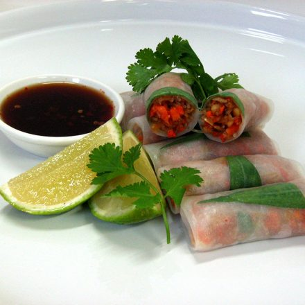 Rice Paper Rolls for people with Food Allergy by Devour It Catering Melbourne