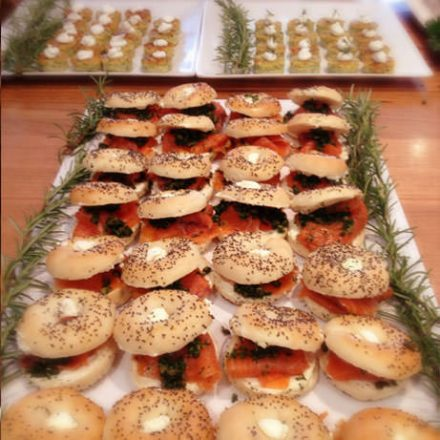 Mini Smoked Salmon Bagel by Devour It Catering Melbourne