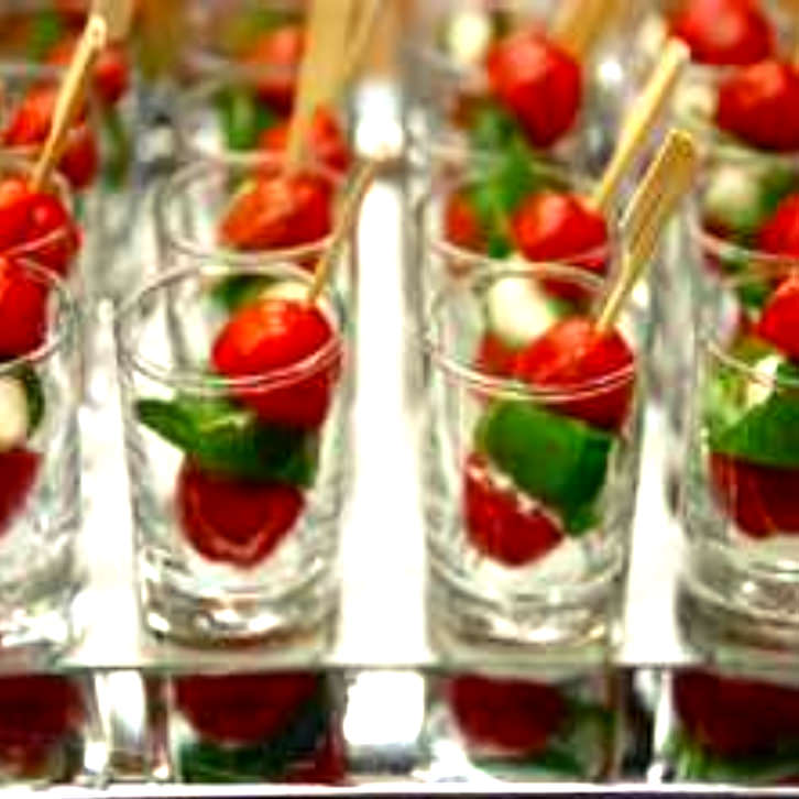 Tomato, Basil and Bocconcini Skewers by Devour It Catering Melbourne