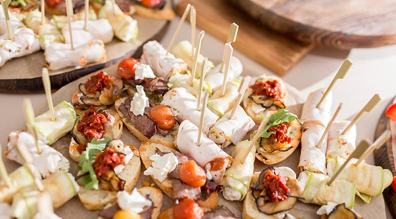 healthy corporate catering canapes