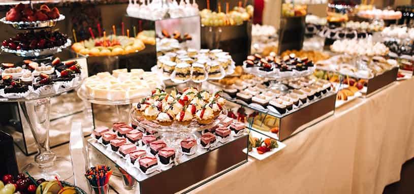 birthday catering dessert