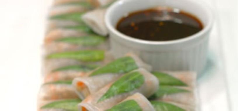 Deluxe rice paper rolls